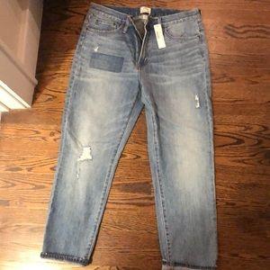 J. Crew Vintage Crop Boyfriend Jeans NWT